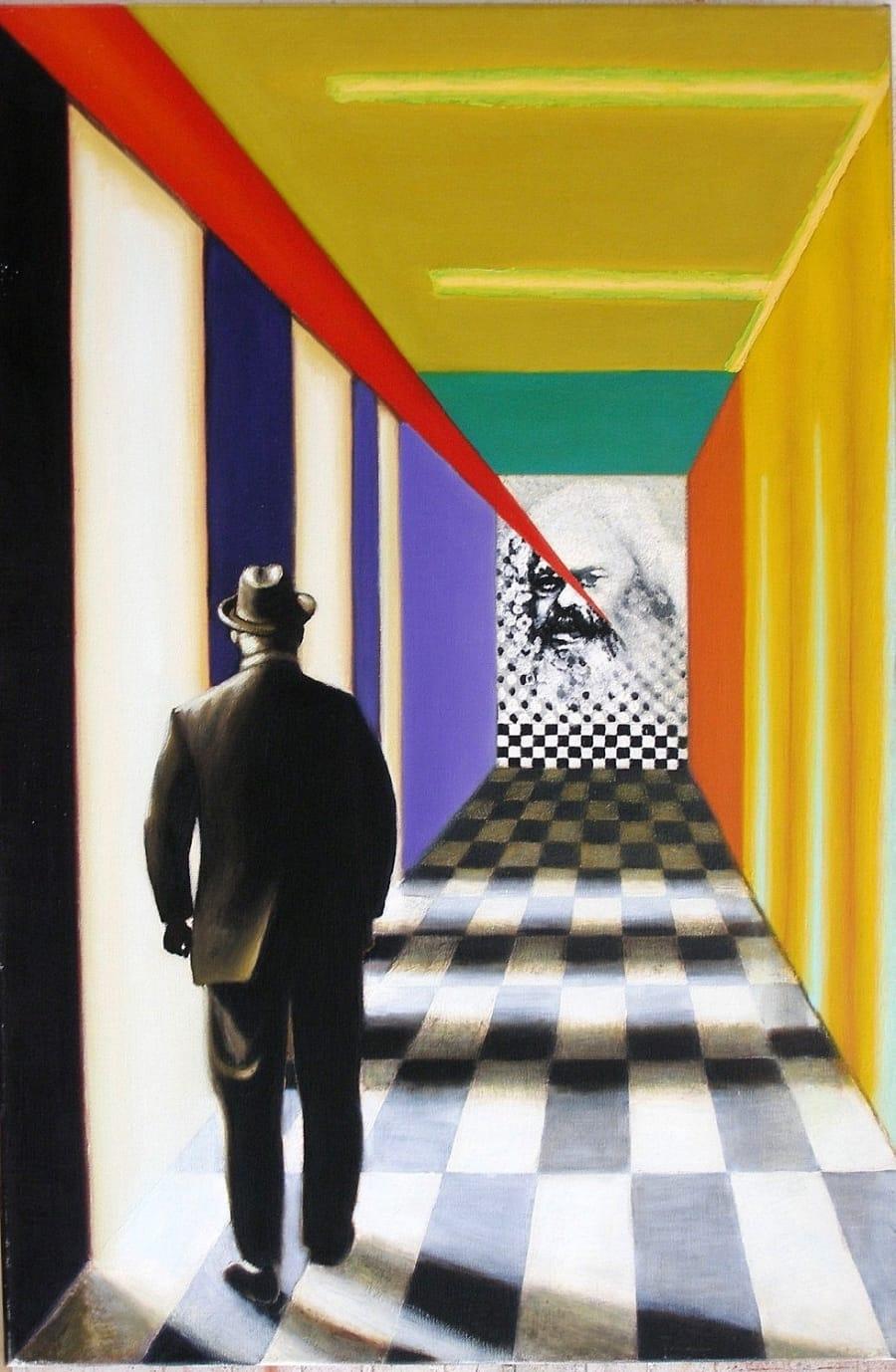 Kunst: t sombere perspectief achterhaald van kunstenaar Leo Wijnhoven
