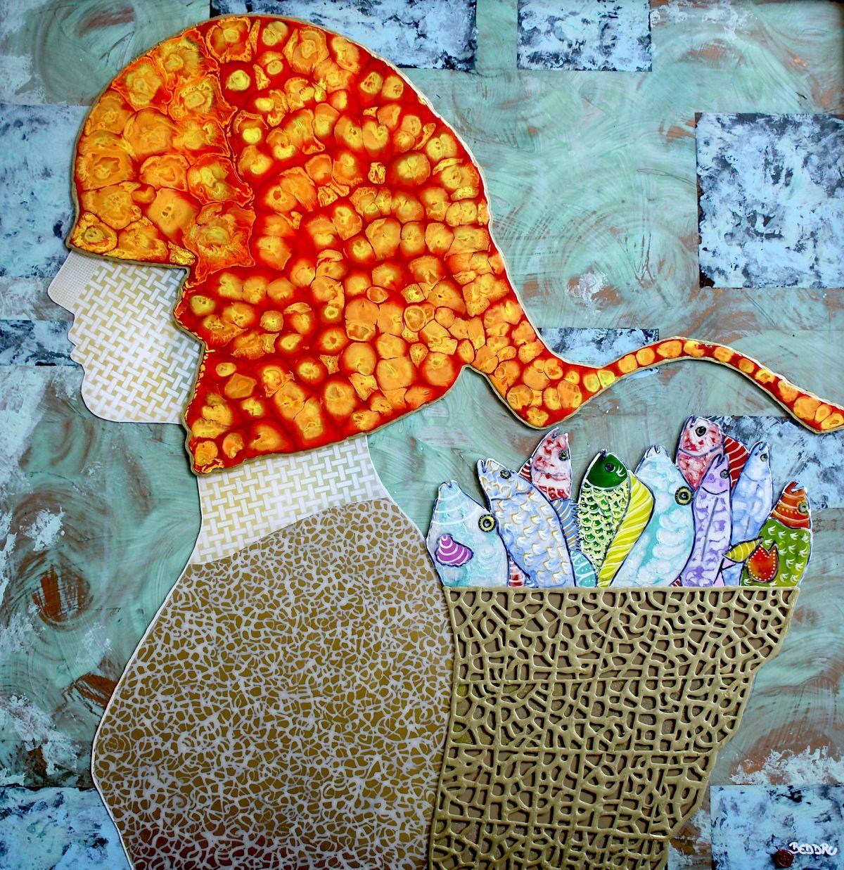 Kunst: The Fish Seller van kunstenaar  Beddru
