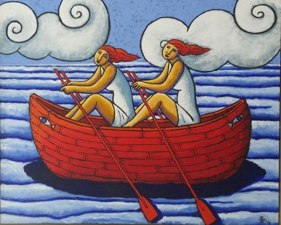 Kunst: The Greek boat van kunstenaar Jacques Tange