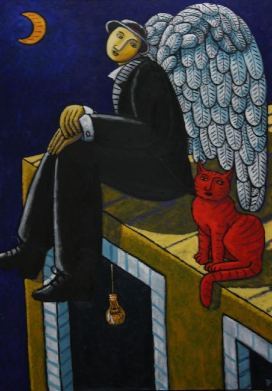 Kunst: The Guardian van kunstenaar Jacques Tange