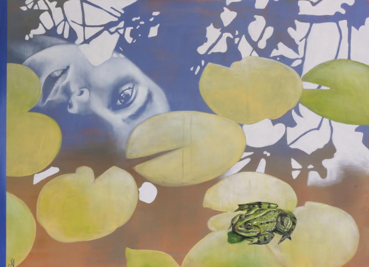 Kunst: The Pond (Mirror me) van kunstenaar Angelique-Mathijssen-van-den Bosch