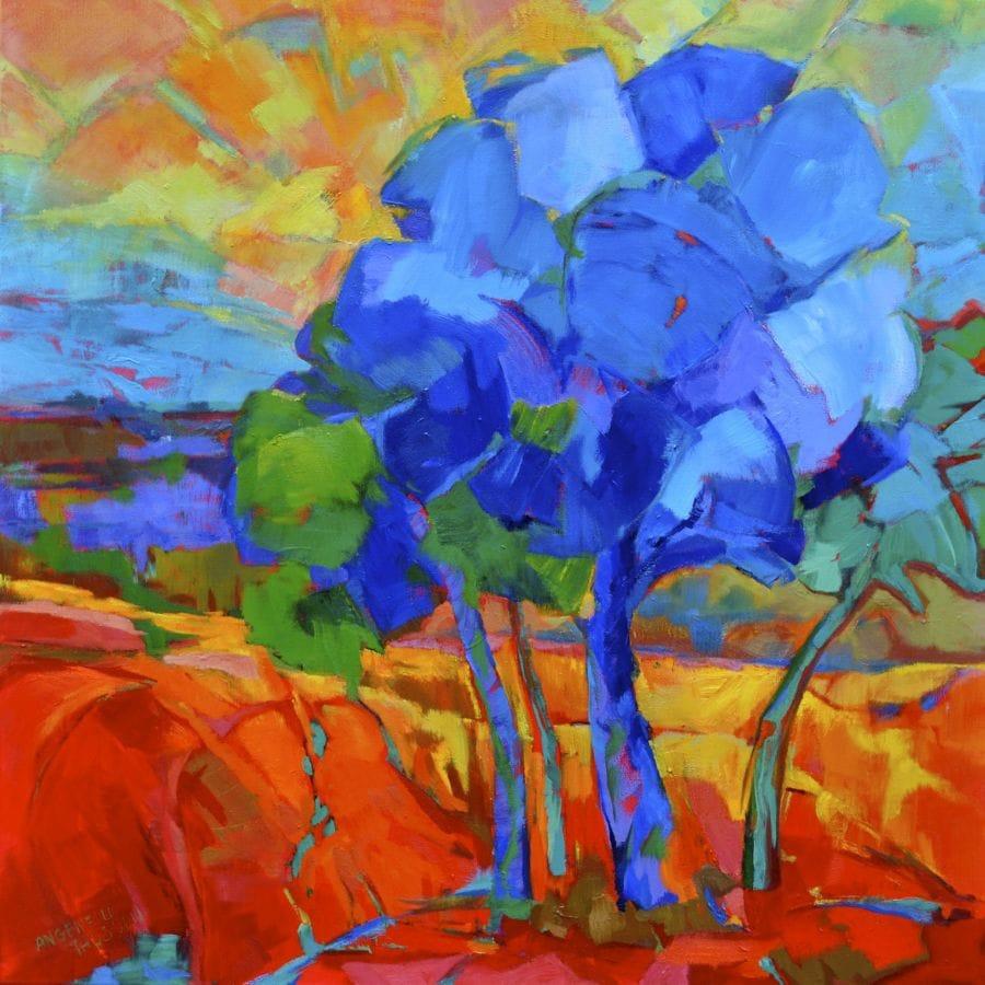 Kunst: The red fields van kunstenaar Angenelle Thijssen