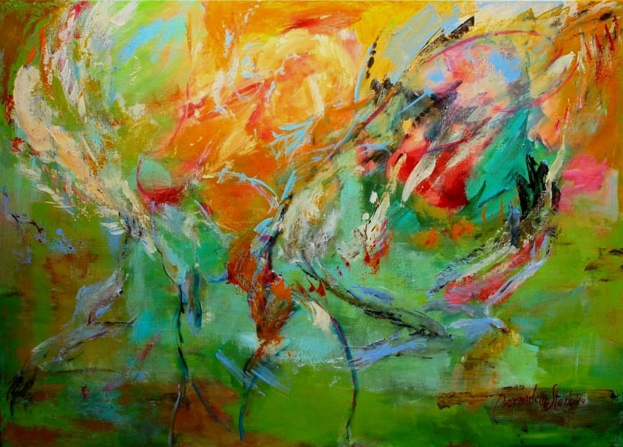 Kunst: Titel As Free as Air van kunstenaar Bernadette Sterk