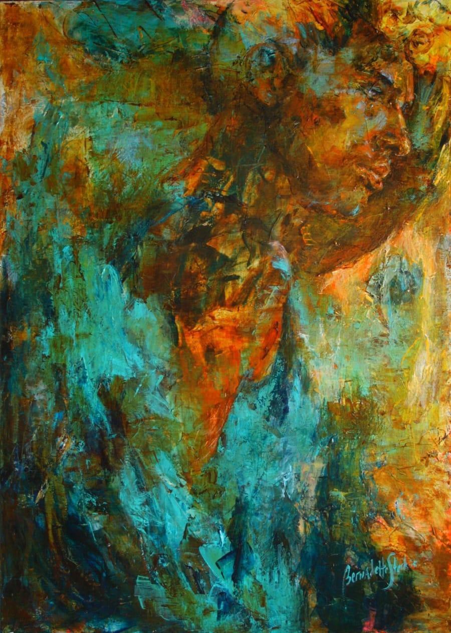 Kunst: Titel Turquoise van kunstenaar Bernadette Sterk