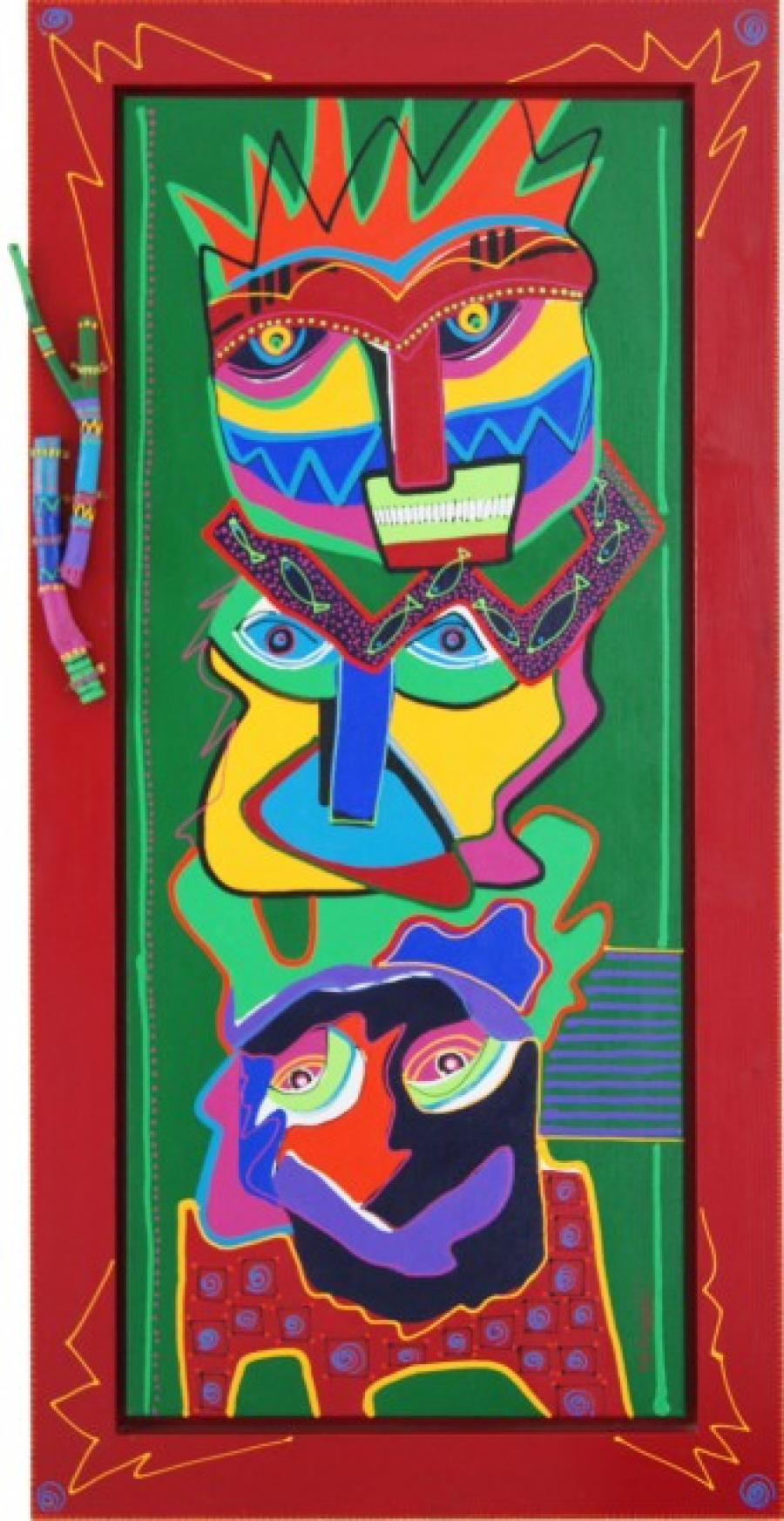 Kunst: Totem Gabon van kunstenaar Marianne Naerebout