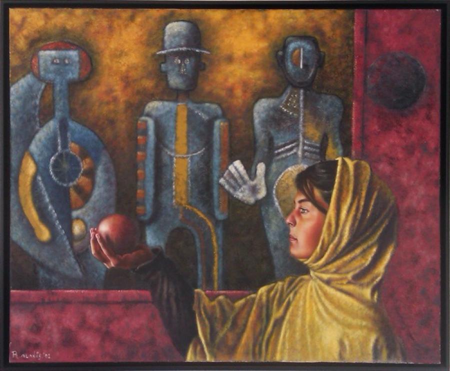 Kunst: Tres Personages van kunstenaar Ricardo Alanis