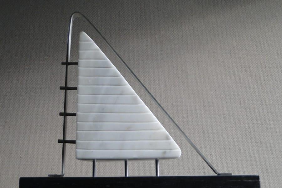 Kunst: Triangle in Frame van kunstenaar Bert Verboon