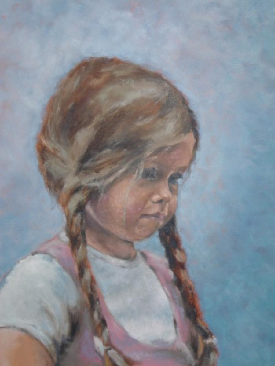 Kunst: Uit de serie Portret in opdracht: Danielle van kunstenaar Miranda Karskens