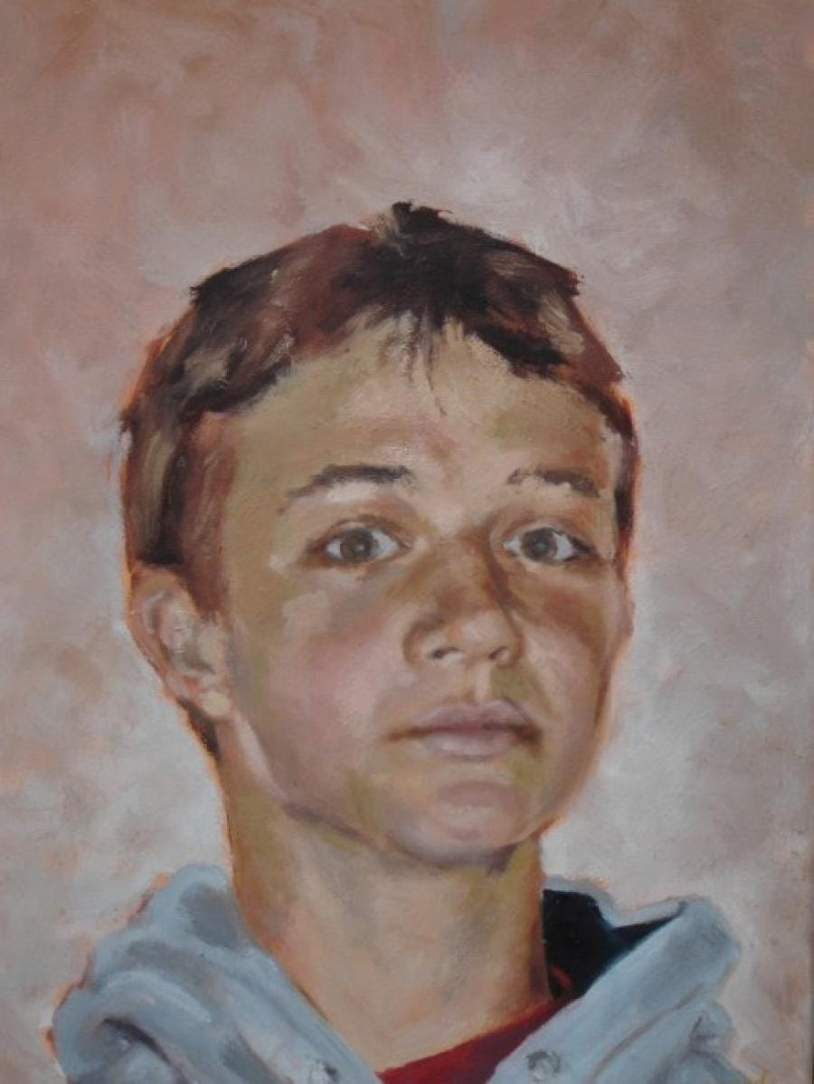 Kunst: Uit de serie Portret in opdracht: Tycho van kunstenaar Miranda Karskens