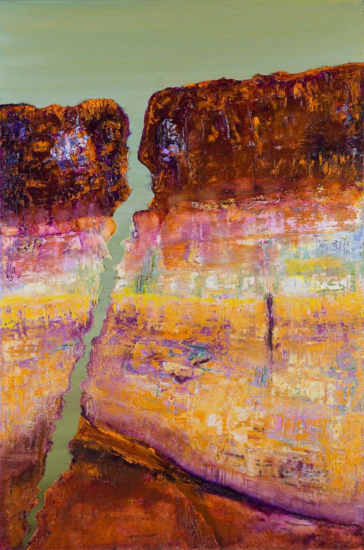 Kunst: Unbalanced rock II van kunstenaar Els Vegter