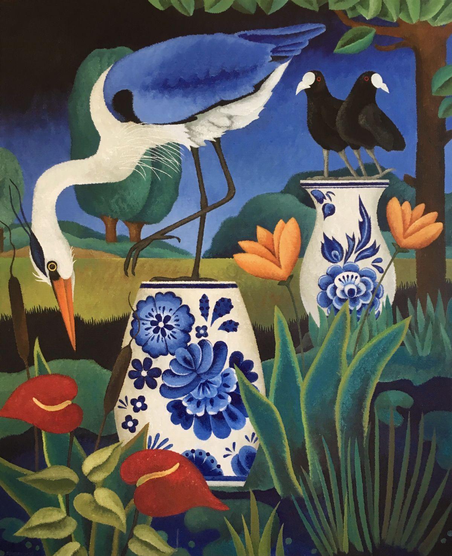 Kunst: Unforgettable blue van kunstenaar Yvonne Zomerdijk