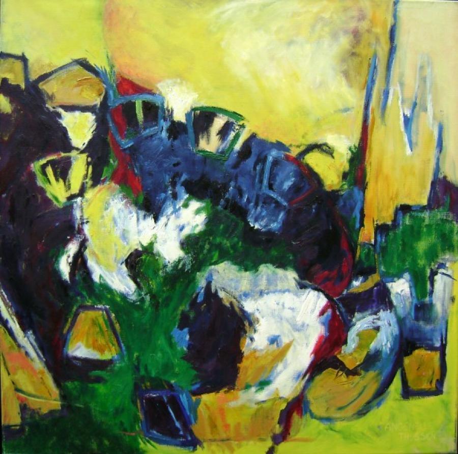 Kunst: Vezelay van kunstenaar Angenelle Thijssen