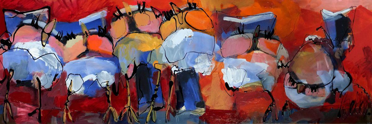 Kunst: Vier van kunstenaar Marieke Bekke