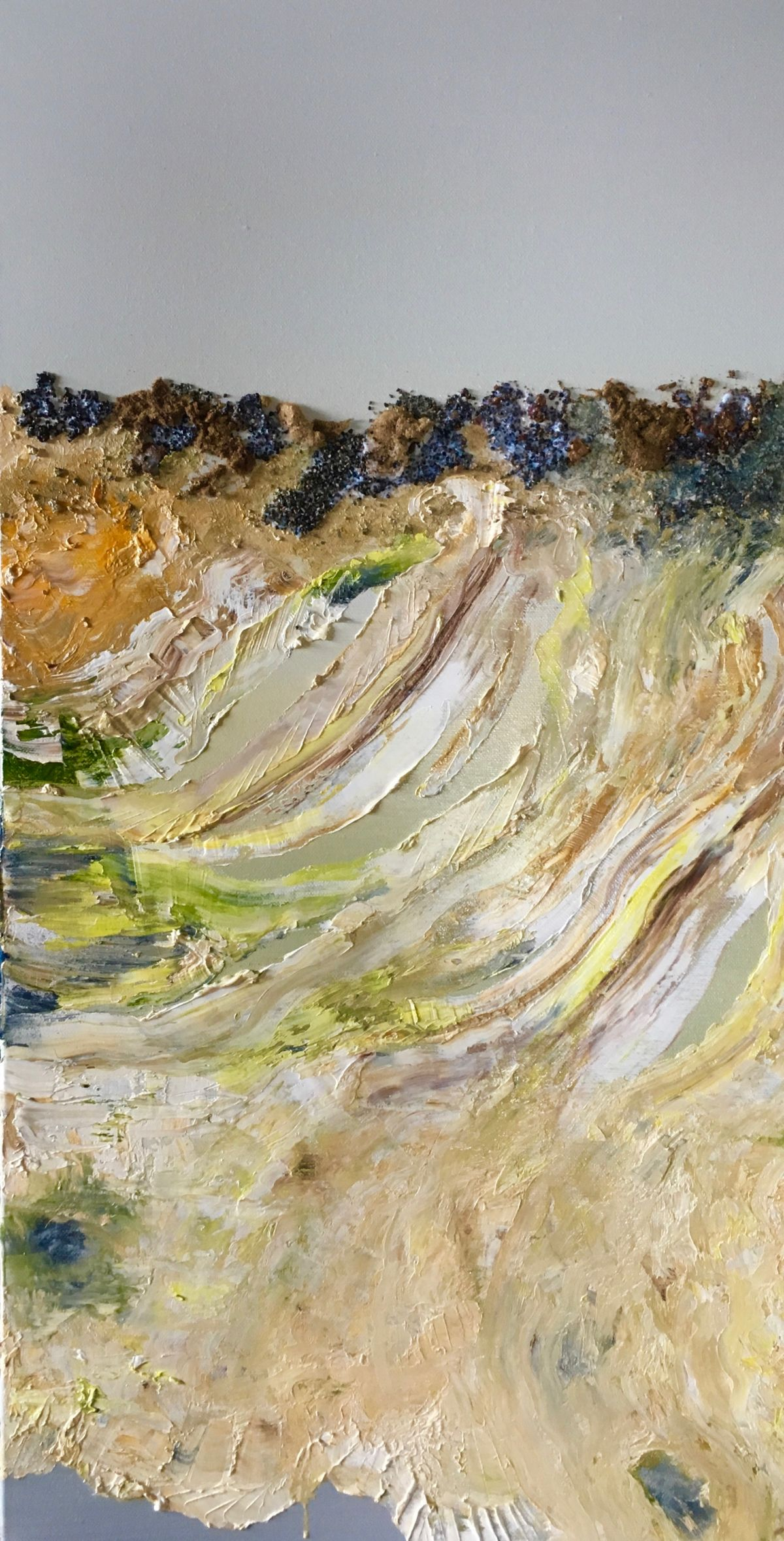 Kunst: Vulkanische grond 01 van kunstenaar Els Vegter