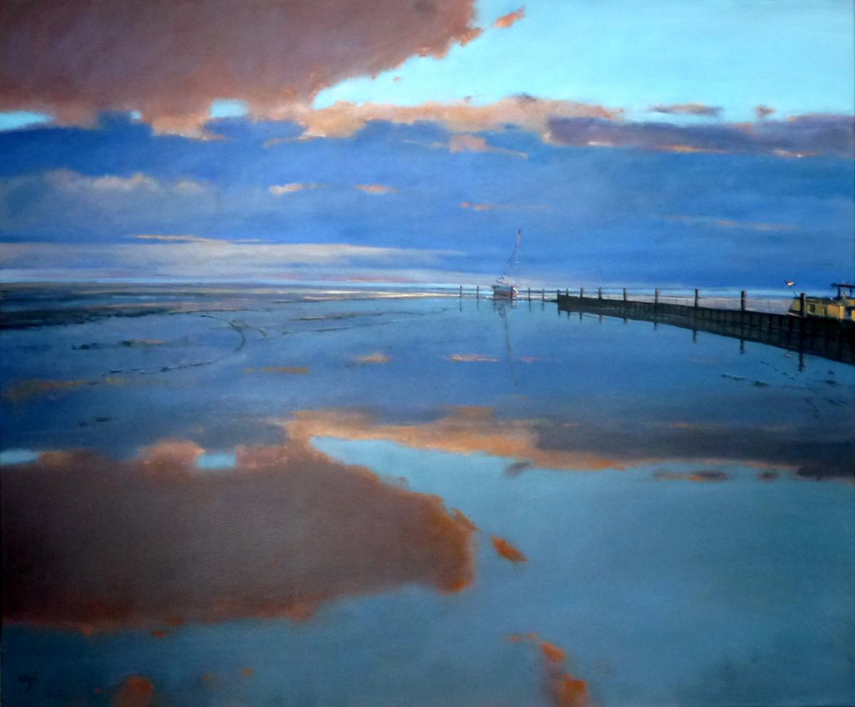 Kunst: waddenspiegel van kunstenaar Cees Vegh