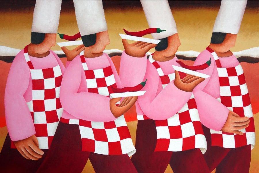 Kunst: Walking dinner van kunstenaar Yvonne Zomerdijk