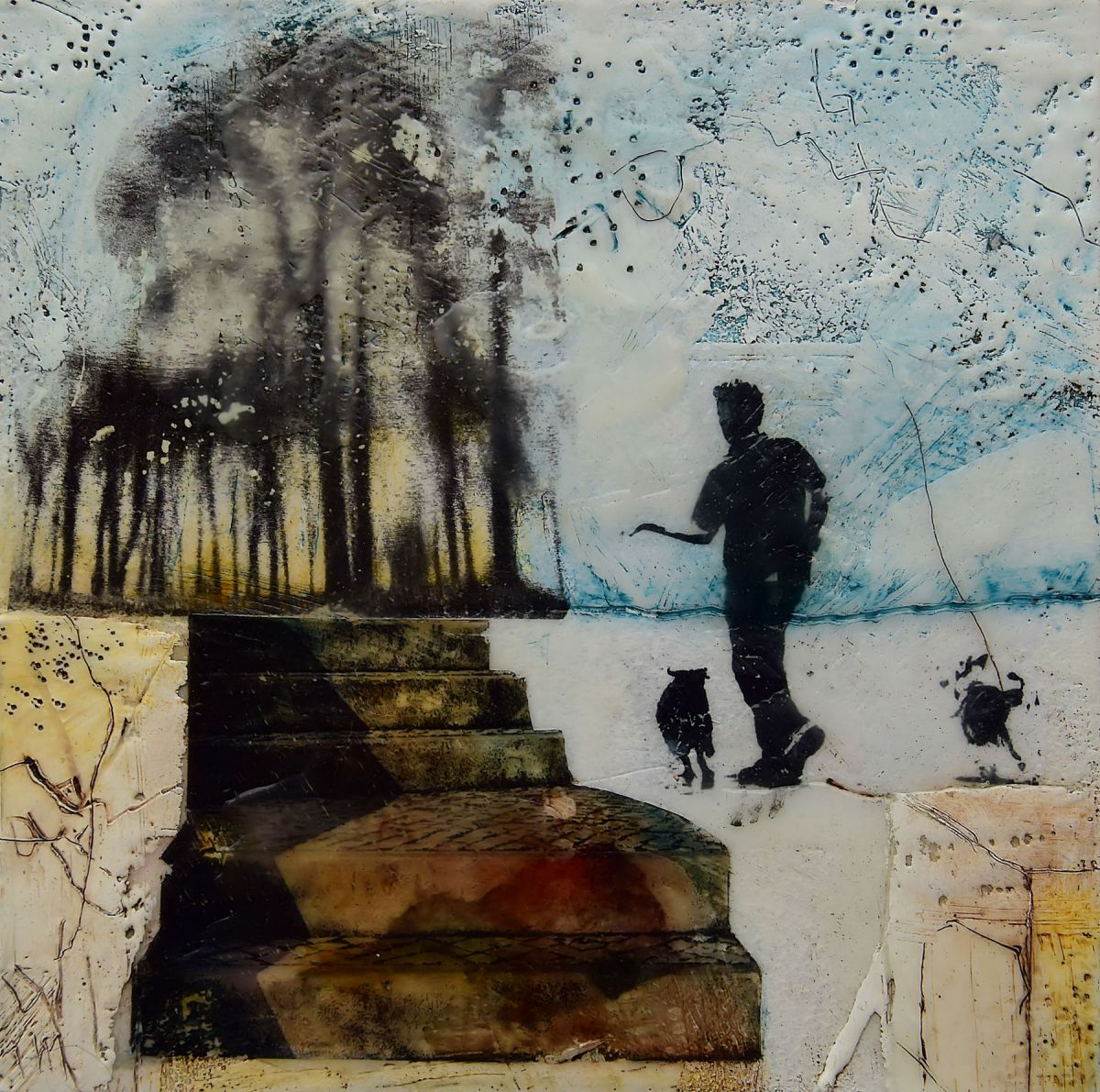 Kunst: Walking the dogs van kunstenaar Trijnie Mohlmann