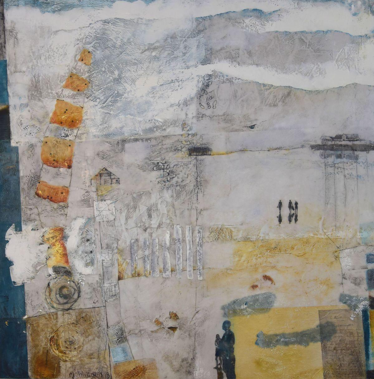 Kunst: Weids Land I van kunstenaar Trijnie Mohlmann