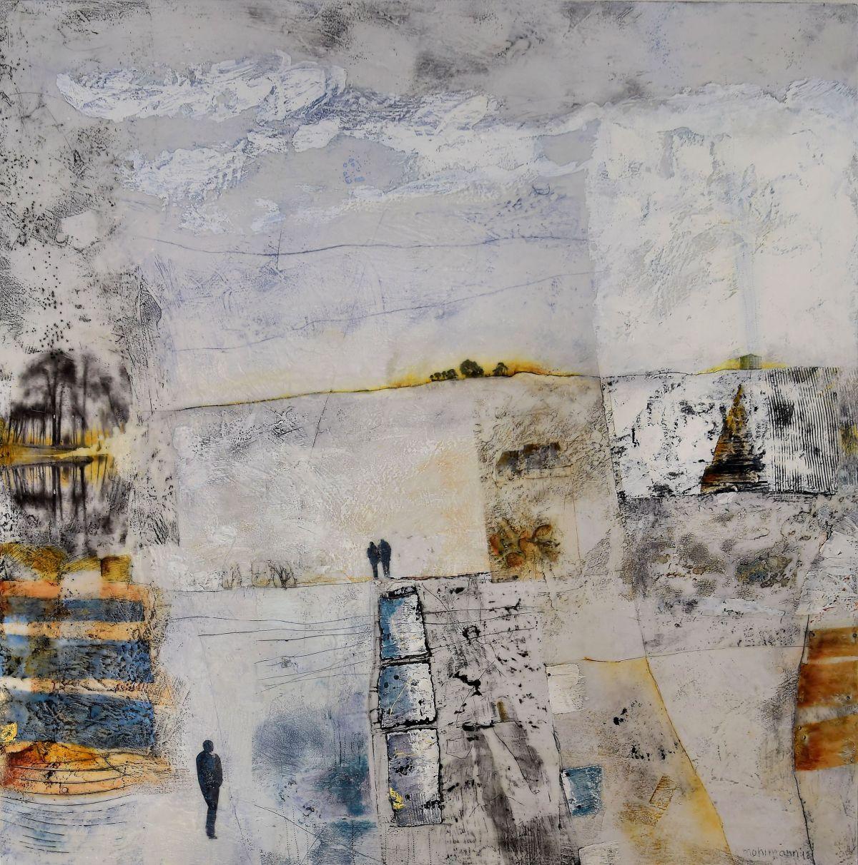 Kunst: Weids Land II van kunstenaar Trijnie Mohlmann