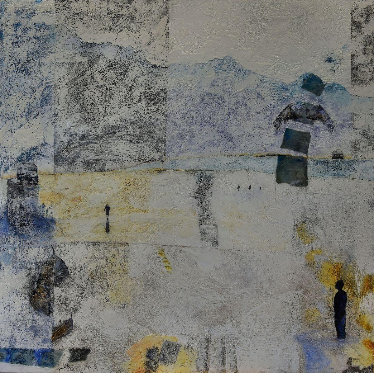 Kunst: Weids land III van kunstenaar Trijnie Mohlmann