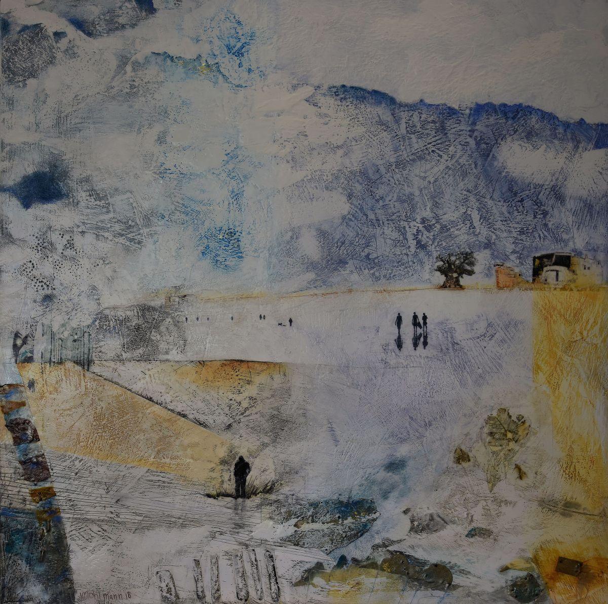 Kunst: Weids land IV van kunstenaar Trijnie Mohlmann