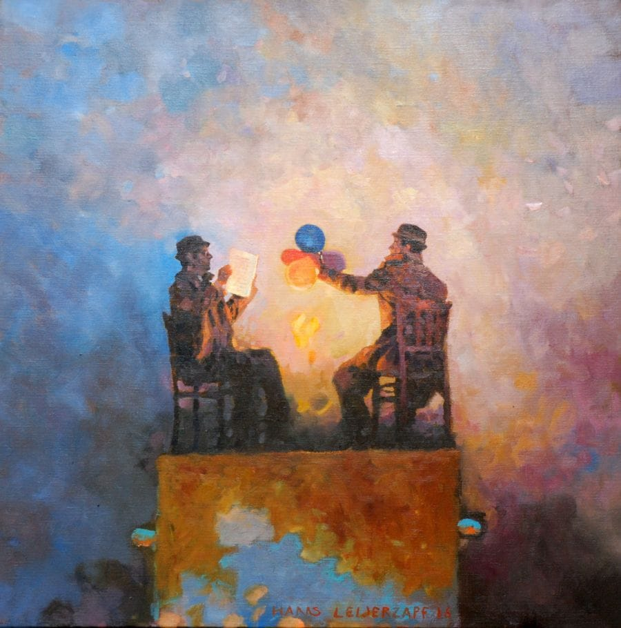 Kunst: Wijze woorden van kunstenaar Hans Leijerzapf