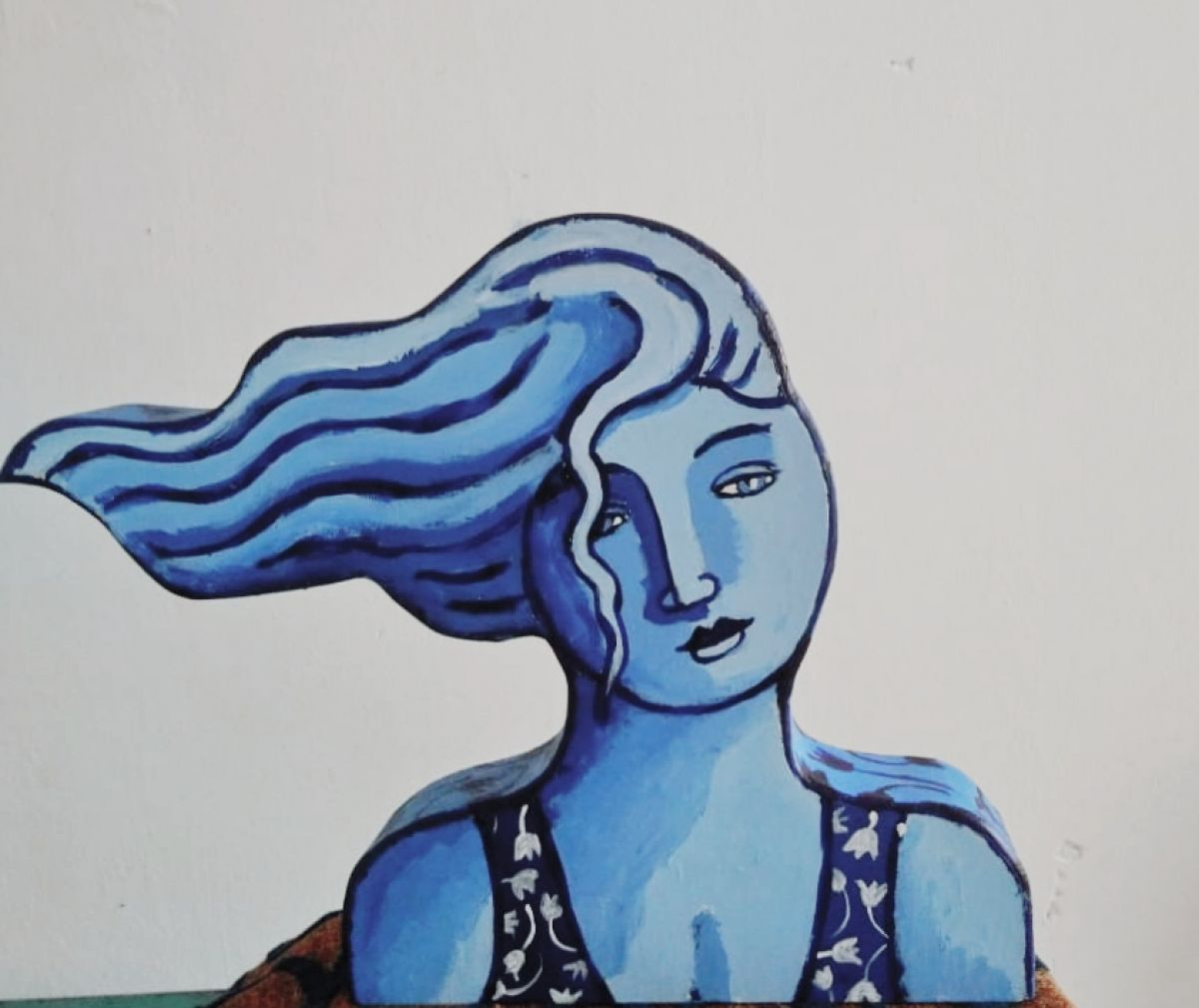 Kunst: Wind [in blue] van kunstenaar Jacques Tange