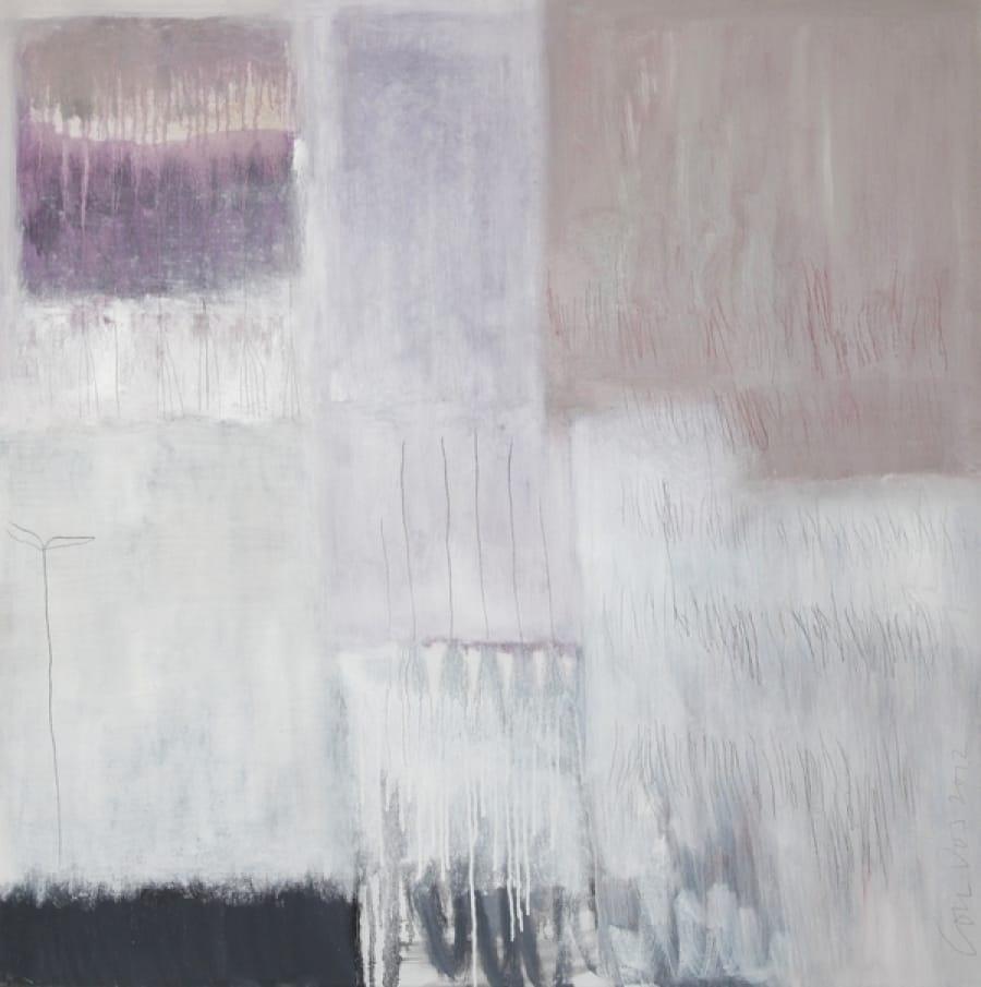Kunst: Winter into spring van kunstenaar Lou Vos