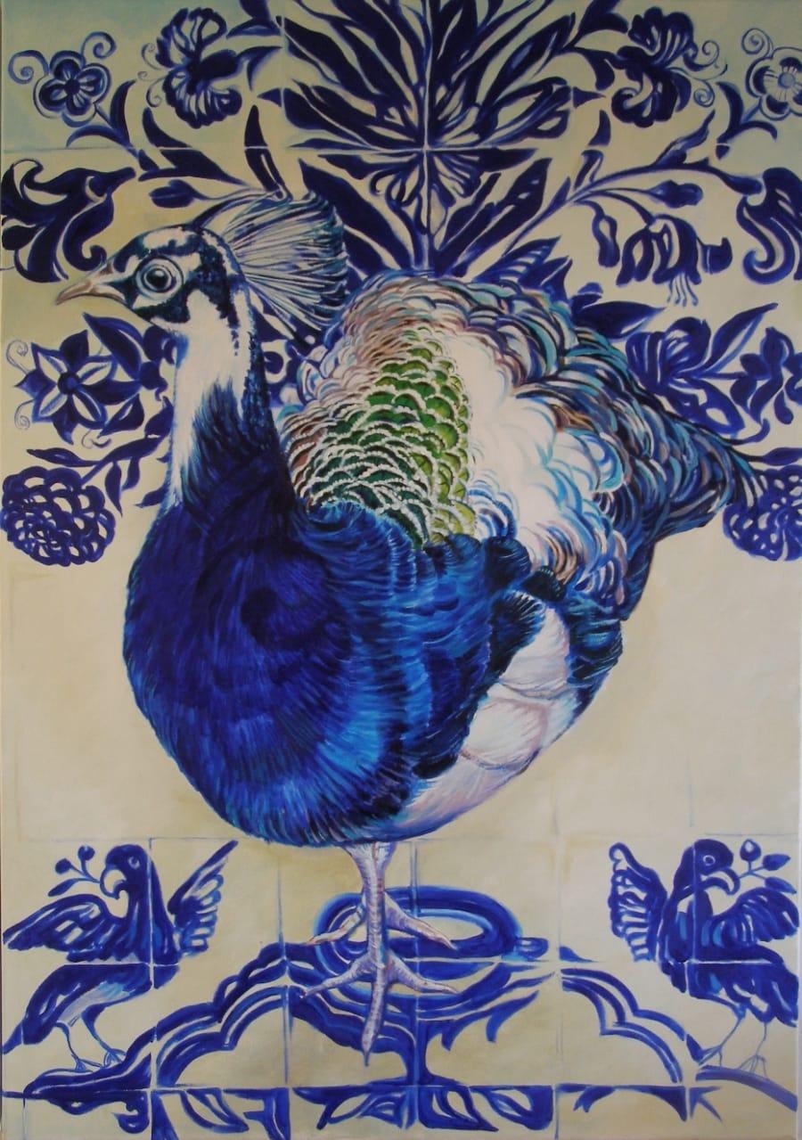 Kunst: Witte Pauw van kunstenaar Sanneke S.I. Griepink