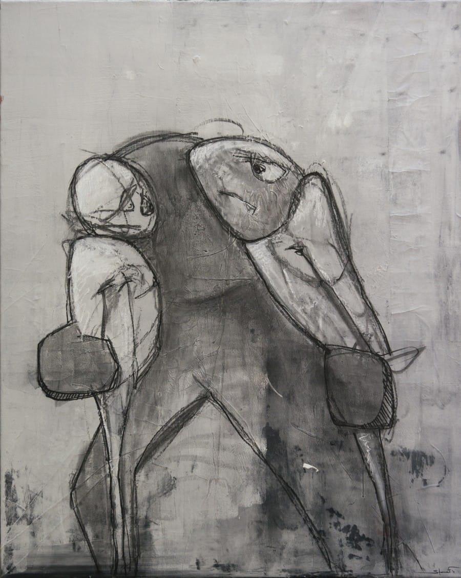 Kunst: Worstel van kunstenaar David de Winter (Staaf)