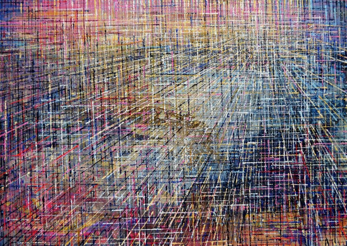 Kunst: X 2019 W van kunstenaar Martin Copier