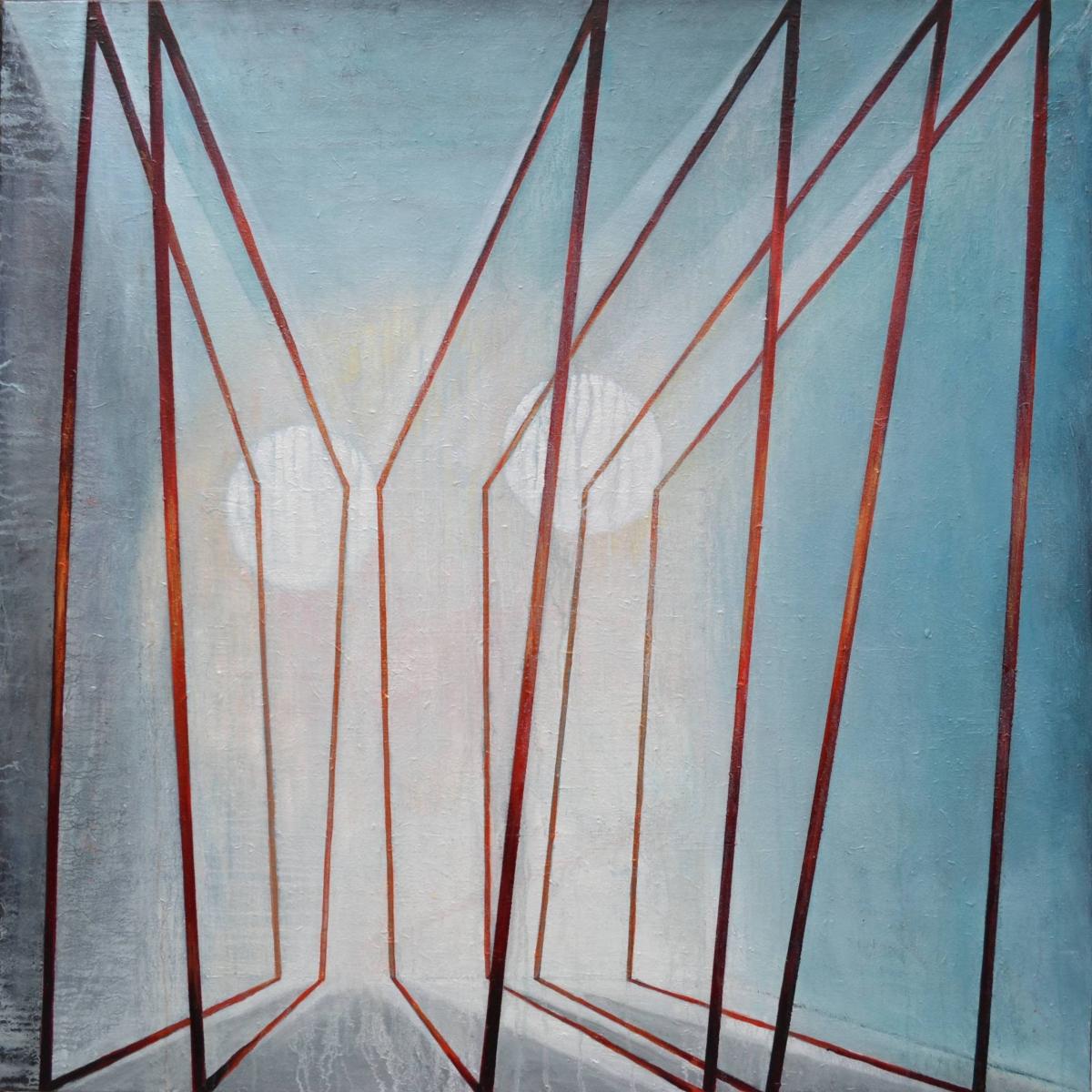 Kunst: X 2020 E van kunstenaar Martin Copier
