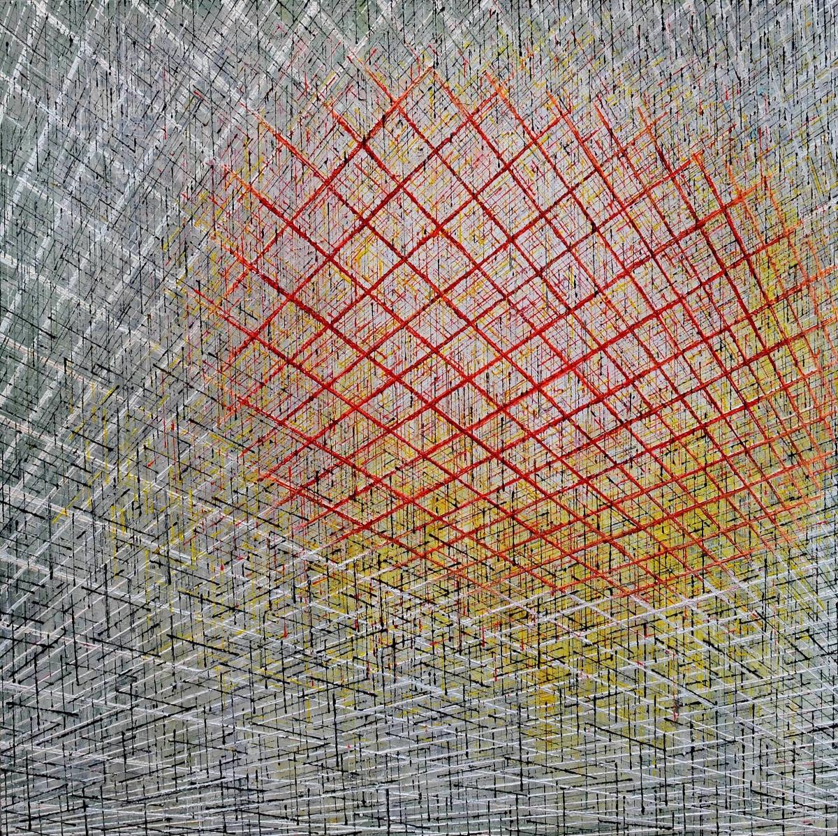Kunst: X 2020 L van kunstenaar Martin Copier