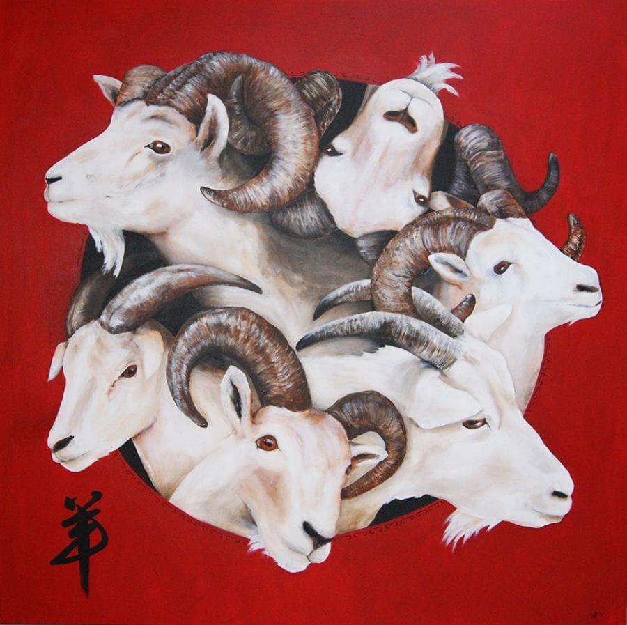 Kunst: Year of the Goat van kunstenaar Tamara Sille