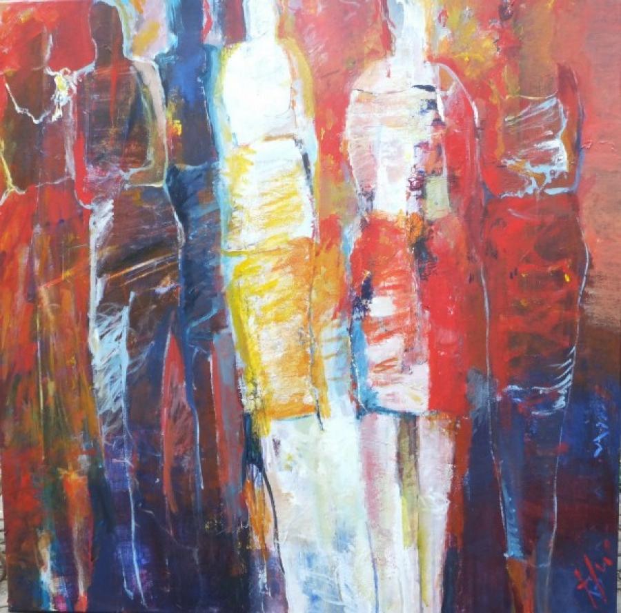 Kunst: z.t. mensen van kunstenaar Heleen Wilke