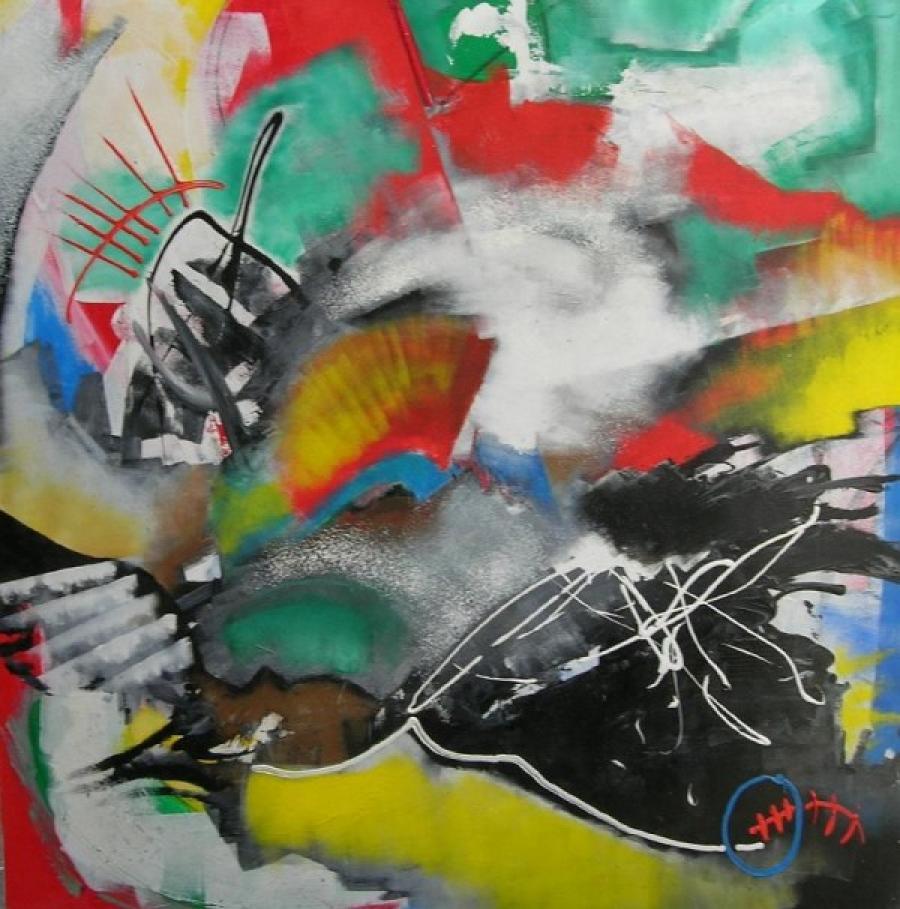 Kunst: zonder titel 1 van kunstenaar Koeno Jansen