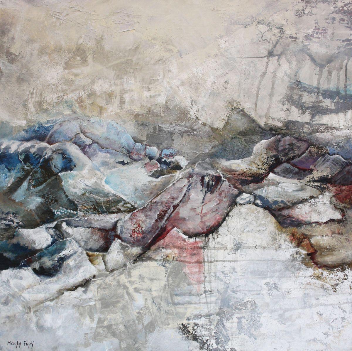 Kunst: Zonder titel 1113 van kunstenaar Marly Freij(vergezichten)