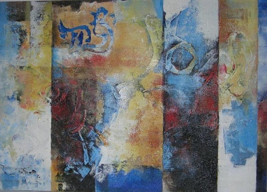 Kunst: zonder titel 12 van kunstenaar Koeno Jansen