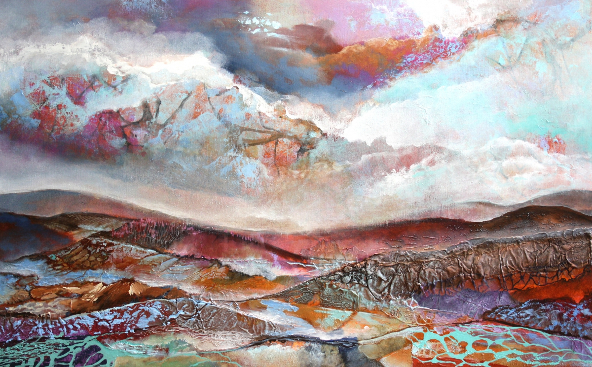 Kunst: Zonder titel 1310 van kunstenaar Marly Freij(vergezichten)