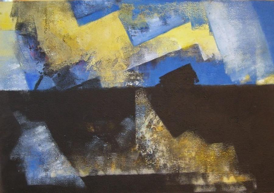 Kunst: zonder titel 17 van kunstenaar Koeno Jansen