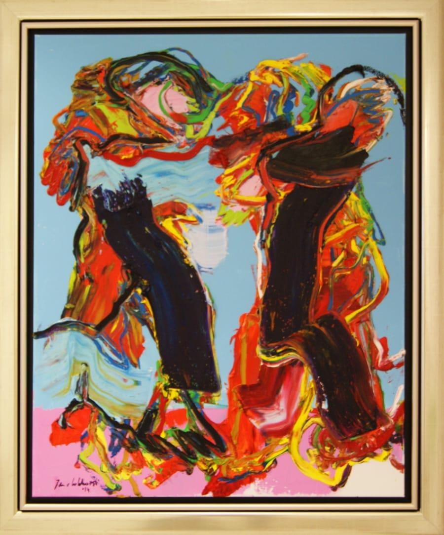 Kunst: Zt. 1 van kunstenaar Jan van Lokhorst