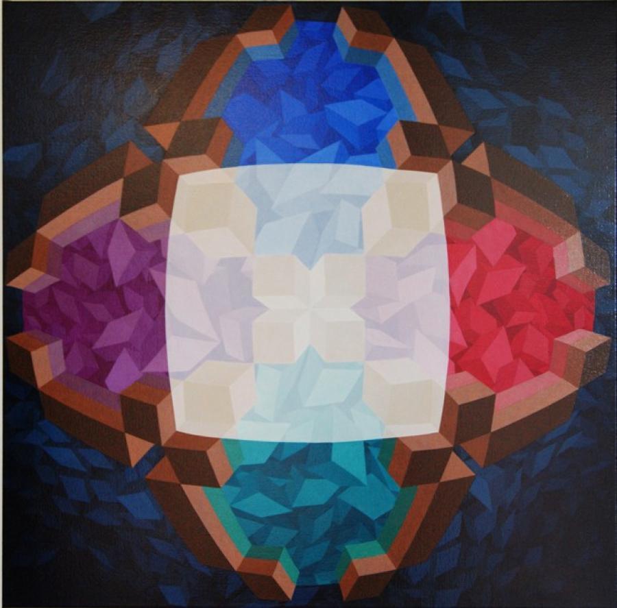 Kunst: ZT10 van kunstenaar  Hans Klaui