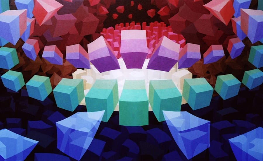 Kunst: ZT14 van kunstenaar  Hans Klaui