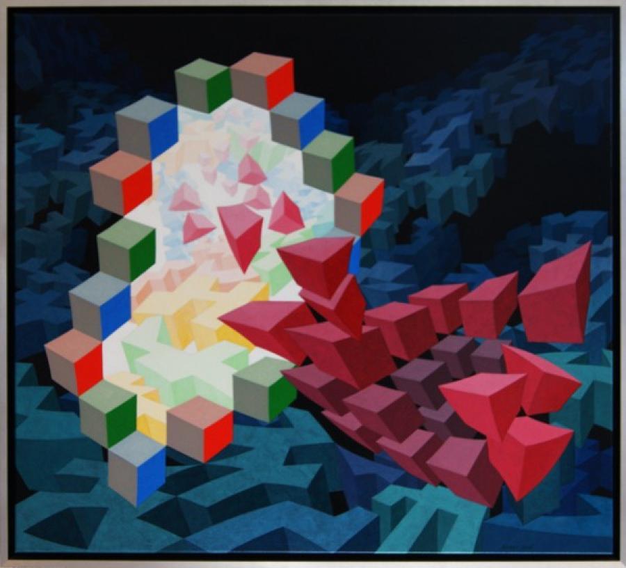 Kunst: ZT5 van kunstenaar  Hans Klaui