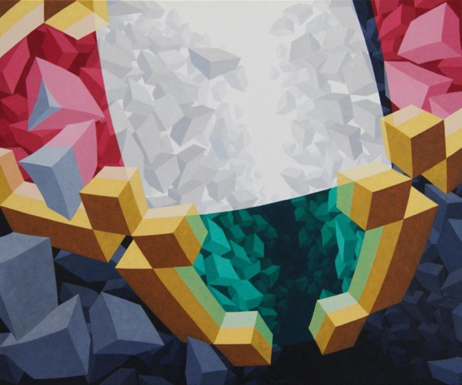 Kunst: ZT6 van kunstenaar  Hans Klaui