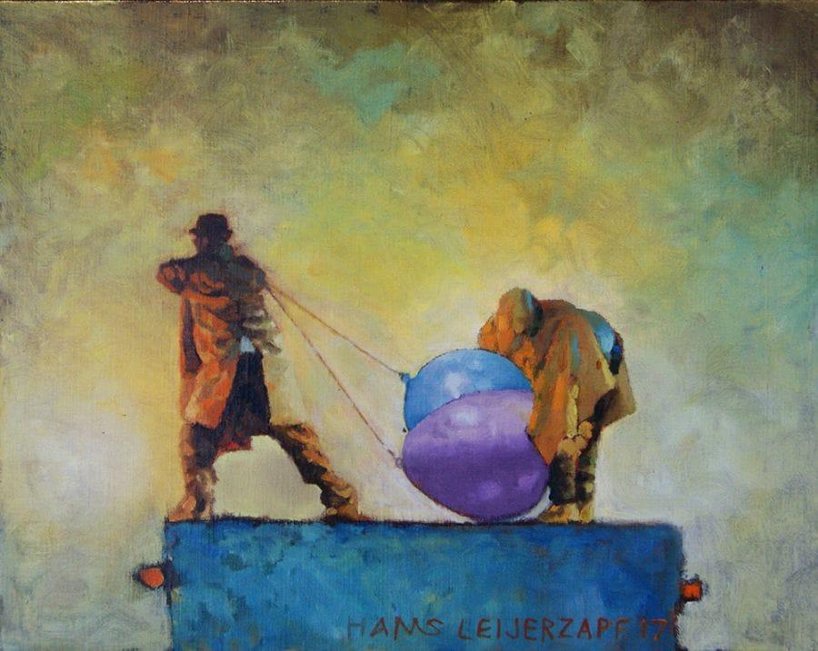 Kunst: Zware lucht van kunstenaar Hans Leijerzapf