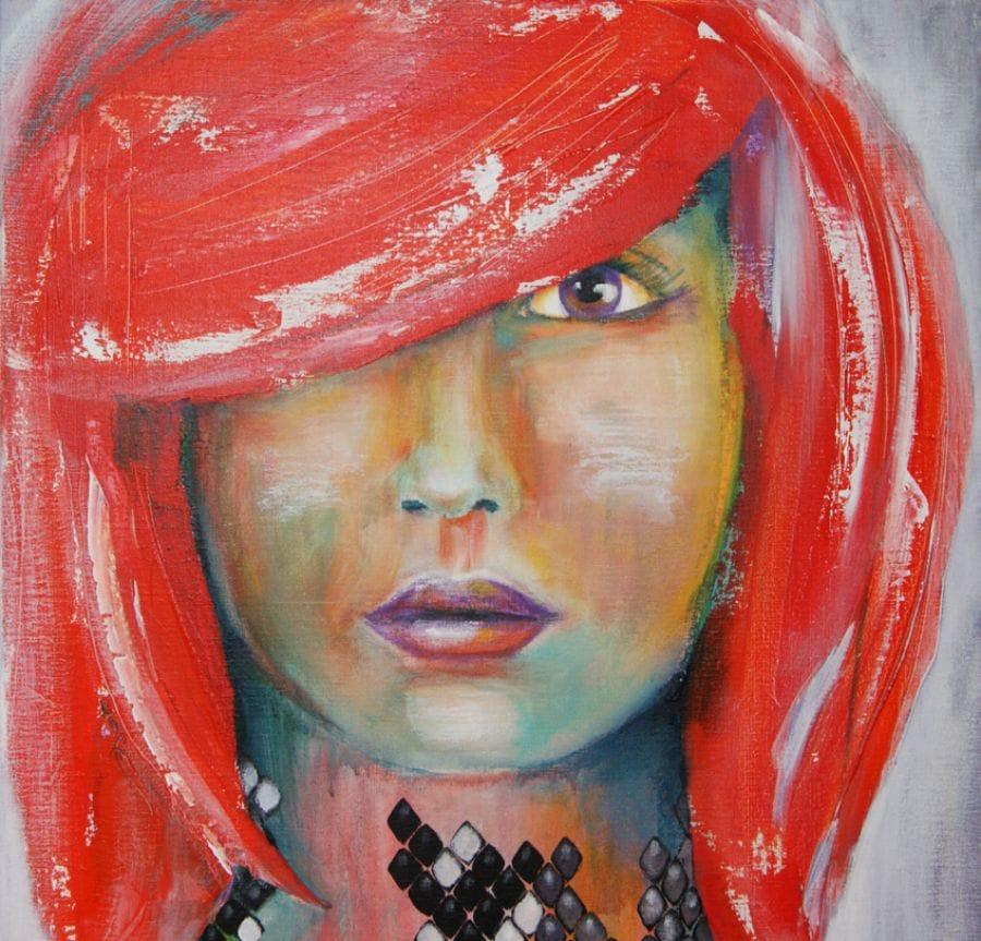 Kunst: Redhead van kunstenaar Tamara Sille