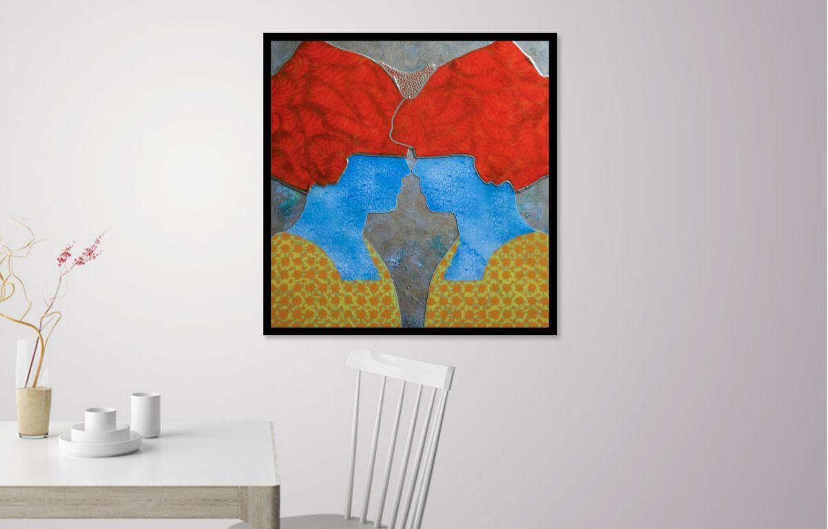 Kunst: Woman of Delft van kunstenaar  Beddru