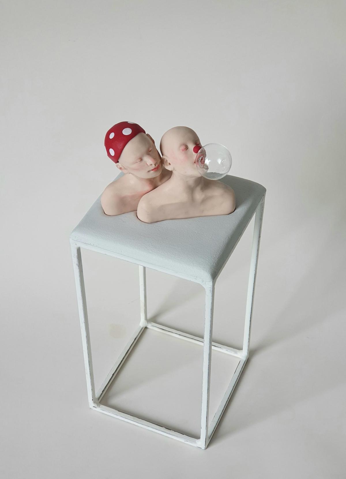 Kunst: clowns van kunstenaar Saskia Hoeboer
