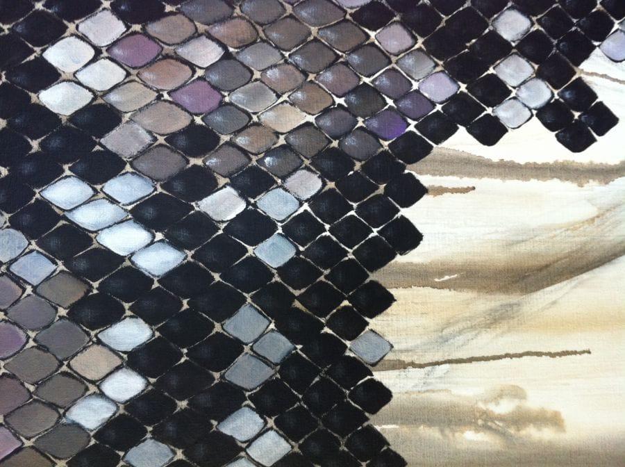 Kunst: Year of the snake IV van kunstenaar Tamara Sille